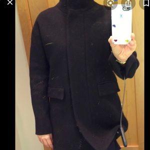 Size 4 j.crew cocoon wool coat